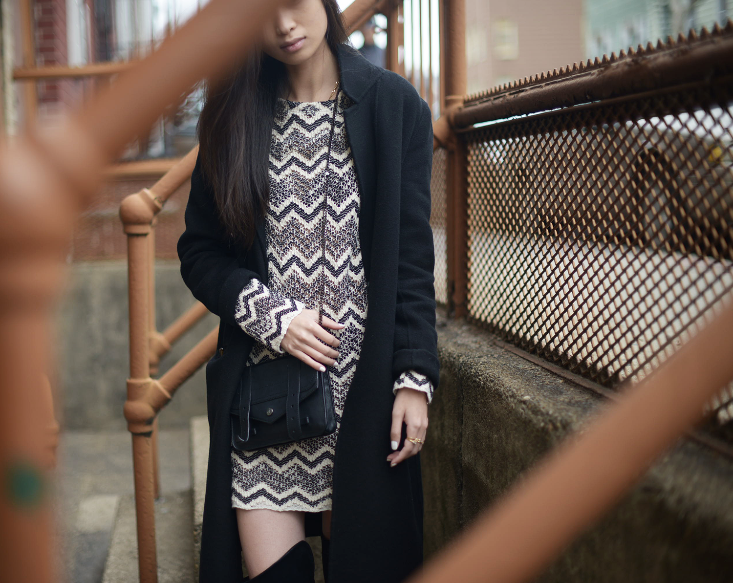 Chevron Knit Dress /  Chevron / FOREVERVANNY.com