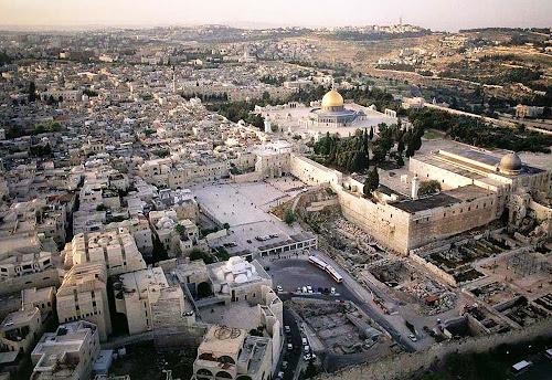 imagem aérea de Jerusalém – Israel