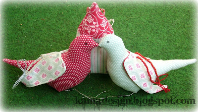 Tone Finanger fabric Lovebirds