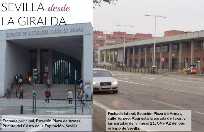 La estación de autobuses de plaza de Armas en Sevilla.