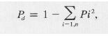 Fórmula del índice