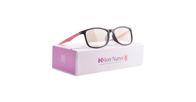 Kacamata K-ion Nano Premium 5 Black Pink (Hitam-Pink)