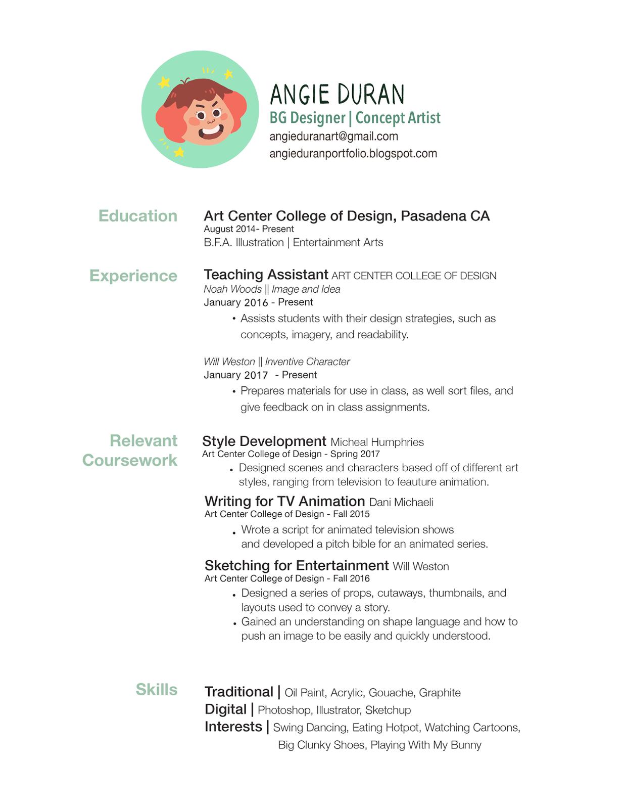 Portfolio : Resume