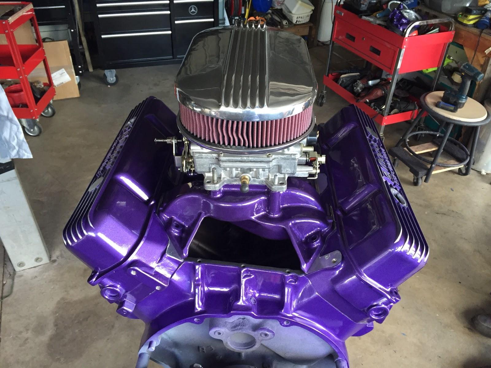 66 Auto Color: 700HP Mopar Engine Paint Project