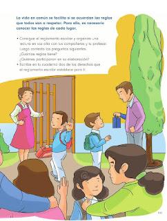 Apoyo Primaria Formación Cívica y Etica 2do. Grado Bloque IV Lección 5 El reglamento escolar