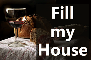 Wine, bread and salami on a table - 1 Fill my house unto the fullest, Eat my bread and drink my wine, The love I bear is held from no-one. Chorus: All I own and all I do I give to you. 2 Take my time unto the fullest, Find in me the trust you seek, Take my hands to you outreaching: 3 Christ our Lord with love enormous From the cross His lesson taught: Love each one as I have loved you. 4 Join with me as one in Christ-love, May our hearts all beat as one, May we give ourselves completely.