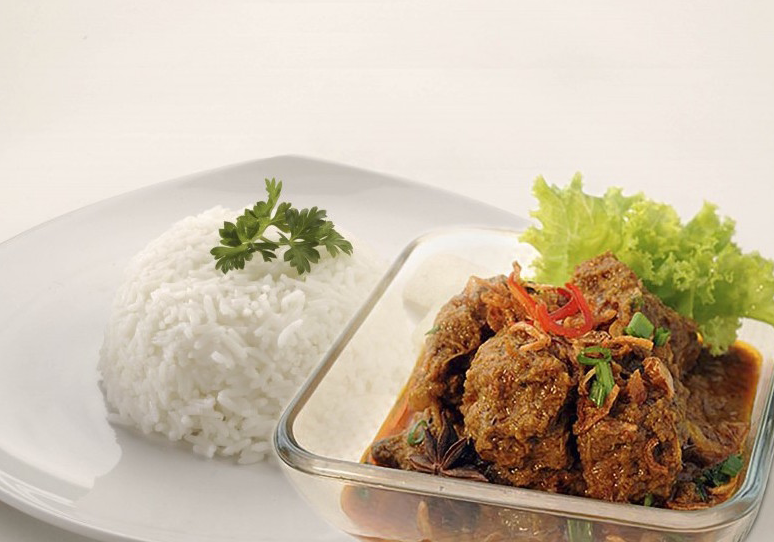 Best Of The Four Items Was The Beef Rendang With Rice Set The Beef Rendang Was A Spicy Beef Stew That Supposed Cooked For Long Hours