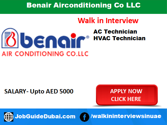 Job in Dubai for Ac Technician and HVAC Technician in Business Bay