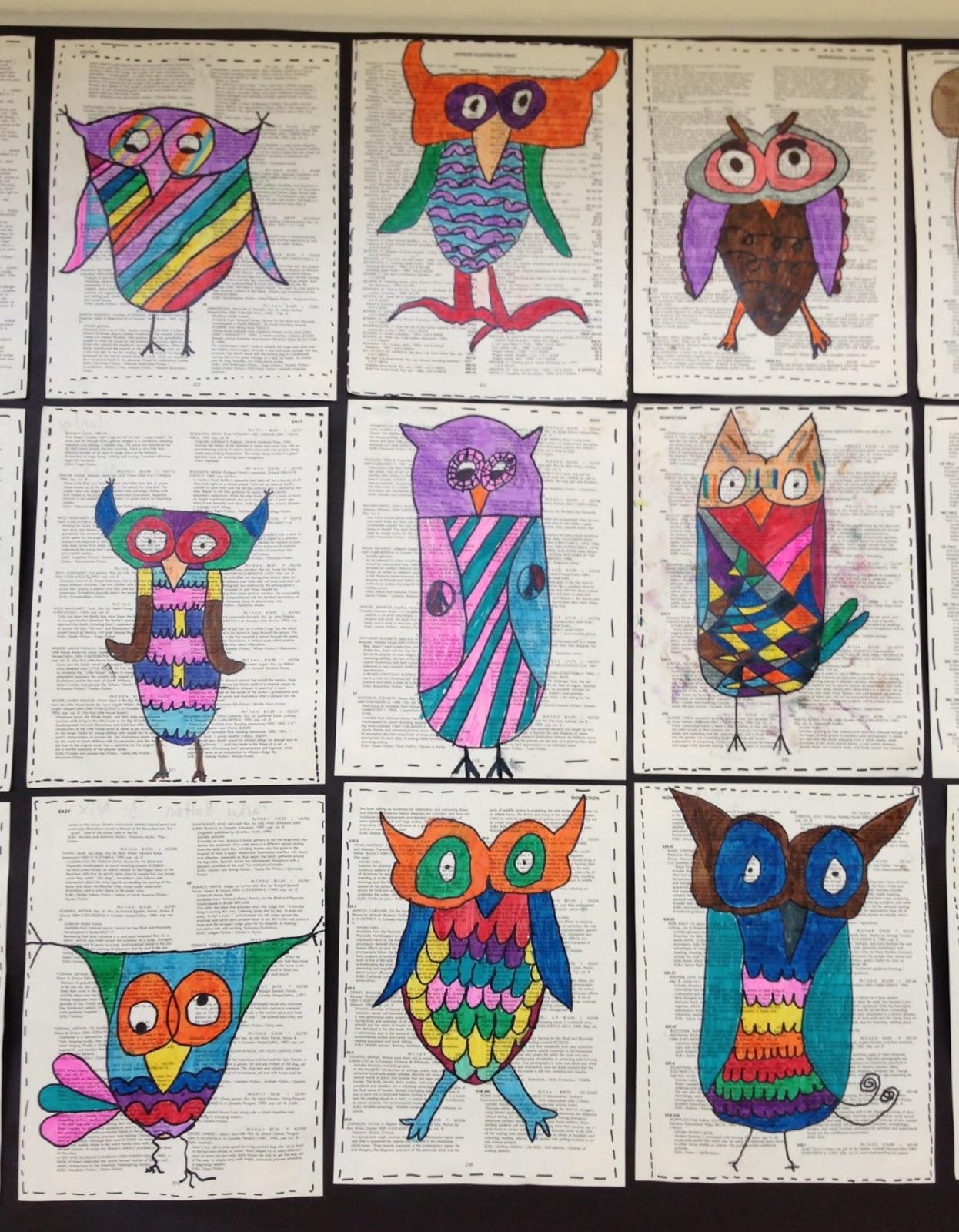 Apex Elementary Art Owl Always Love Art