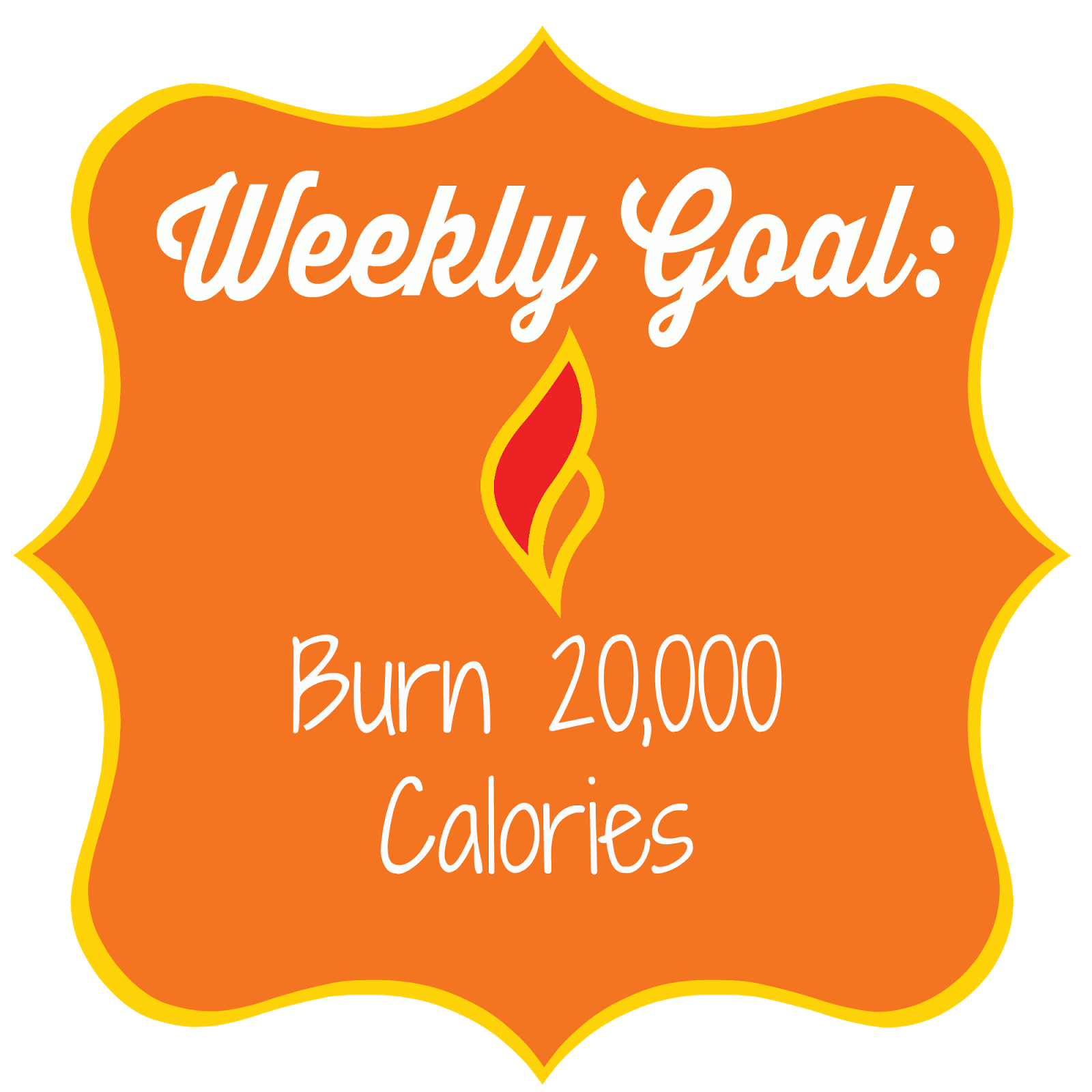 I have been burning fewer calories lately because I have been too busy to  get to the gym. This week my goal is to burn 20,000 ...