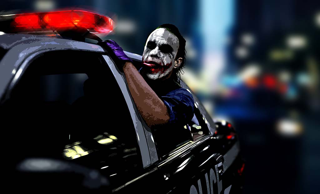 JOKER FROM THE MOVIE DARK KNIGHT BATMAN Why So Serious