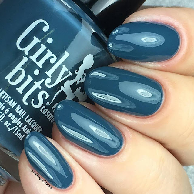 girly bits polish in denim & diamonds