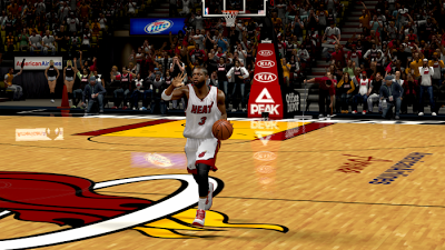 NBA 2K13 Li-Ning Dwyane Wade White & Red Home Heat Shoes