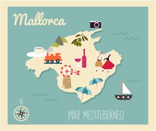 Mapa Mallorca ilustración de Eva Barceló