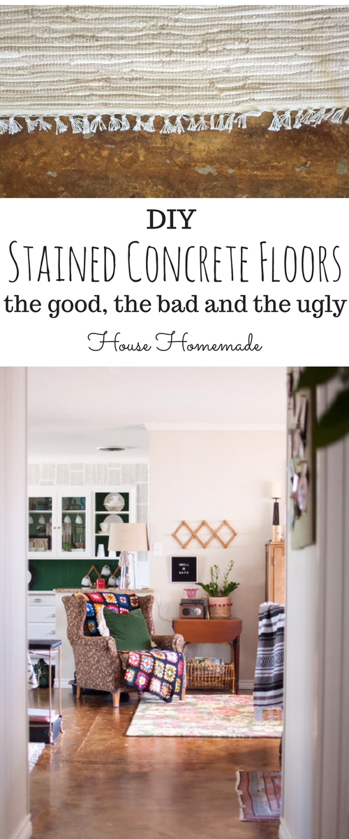 staining concrete floors. The DIY and review. How they're holding up and tips and tricks.