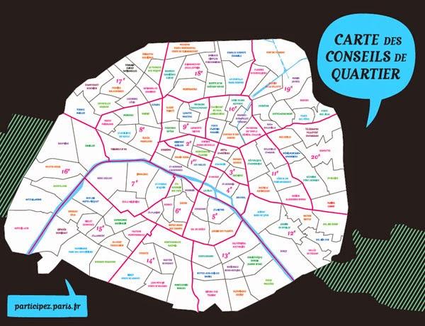 3fb7c666b44086 122 conseils de quartier couvrent la totalité du territoire parisien.  Espace d information et de dialogue, de propositions, d initiatives,  d avis, ...