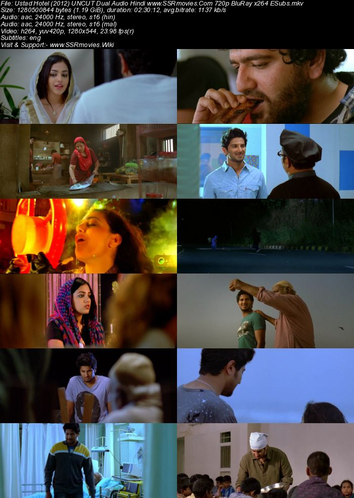 Ustad Hotel (2012) UNCUT Dual Audio Hindi 720p BluRay x264 1.2GB ESubs Movie Download