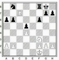 Partida de ajedrez Botvinnik-Alekhine, 1938, posición después de 23. Rf1