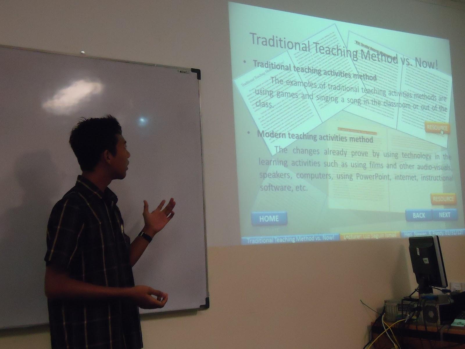 heri winarko traditional teaching method vs now traditional teaching method vs now