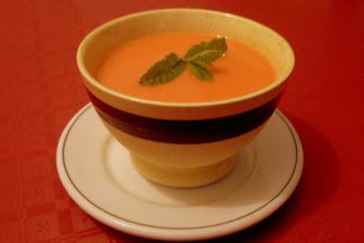 Gazpacho de sandia y tomate.