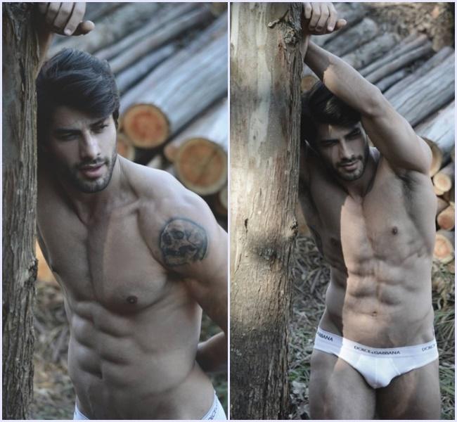 Renan do bbb16 somente de cueca em ensaio sensual