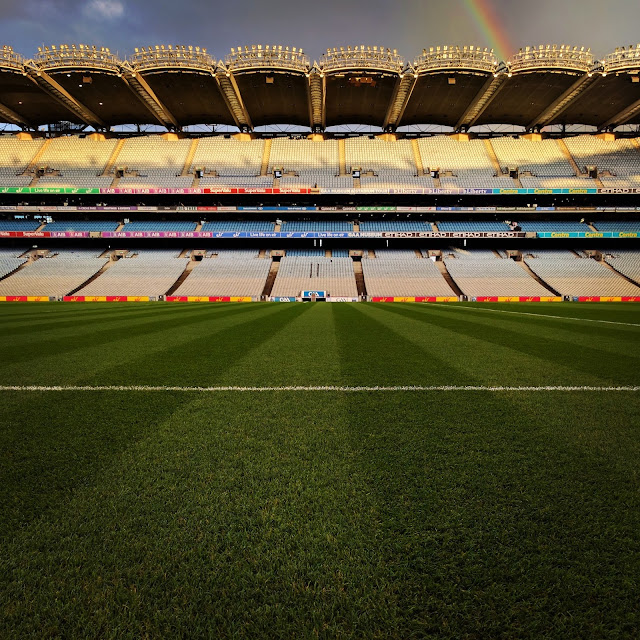 The pitch at Croke Park stadium in Dublin, Ireland