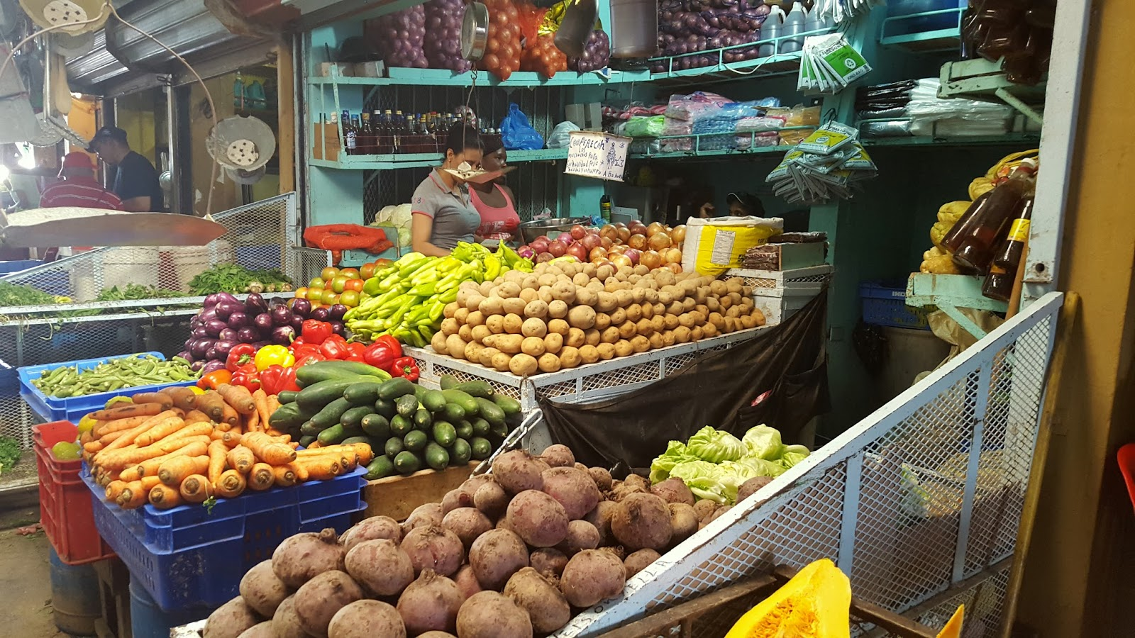 Lokalny targ na Dominikanie