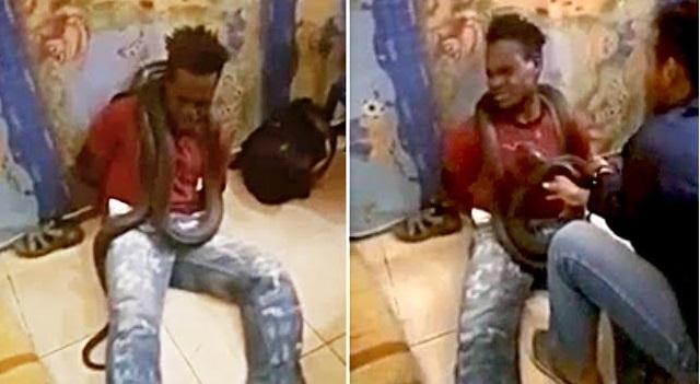 Ινδονησία: Αστυνομικοί έβαλαν φίδι στο λαιμό ενός ύποπτου για να ομολογήσει   βίντεο