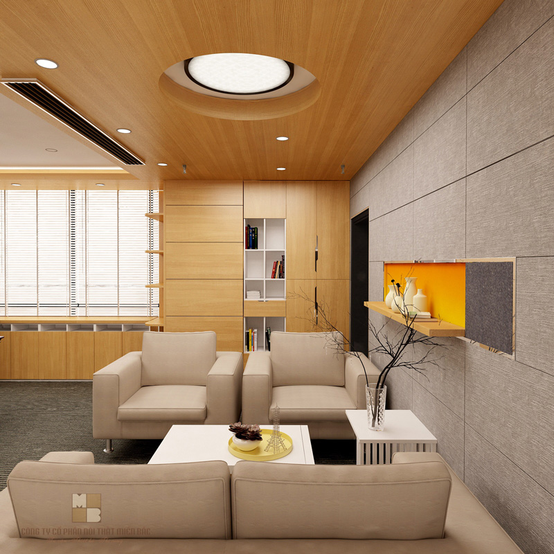 Thiết kế nội thất văn phòng cao cấp cho lãnh đạo