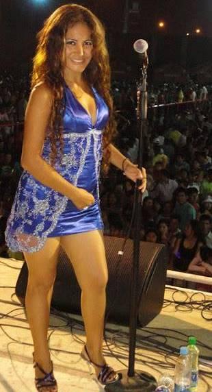 Foto de Edita Guerrera Neira en el escenario