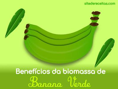 Benefícios da biomassa de banana verde