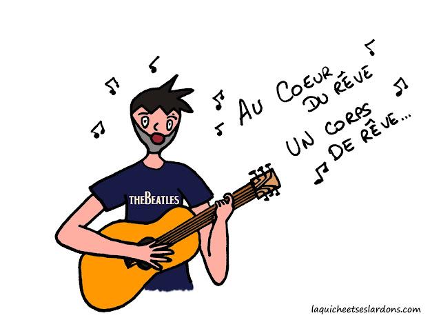 dessin homme chanteur bd guitare musique beatles artiste note