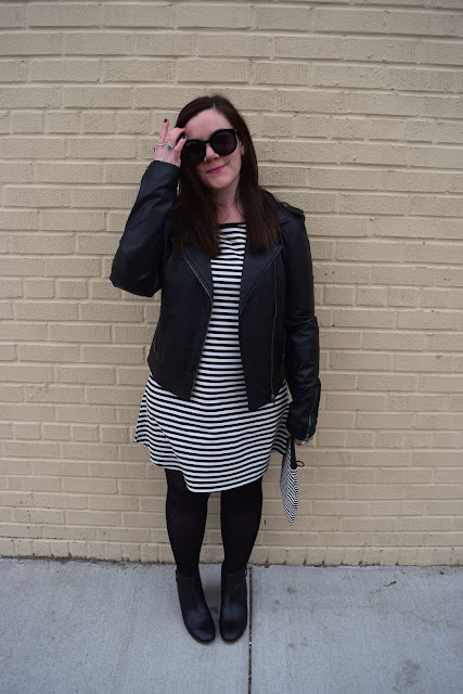 Sequins and Skulls: Leather & Stripes