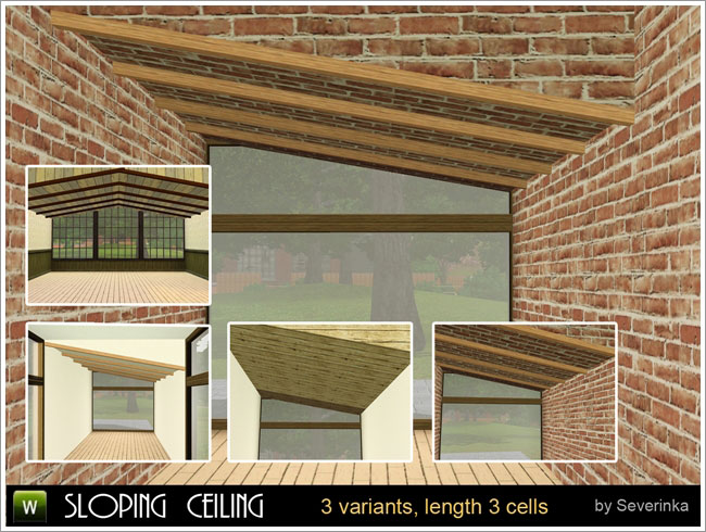 Entertainment World My Sims 3 Blog Sloping Ceiling By