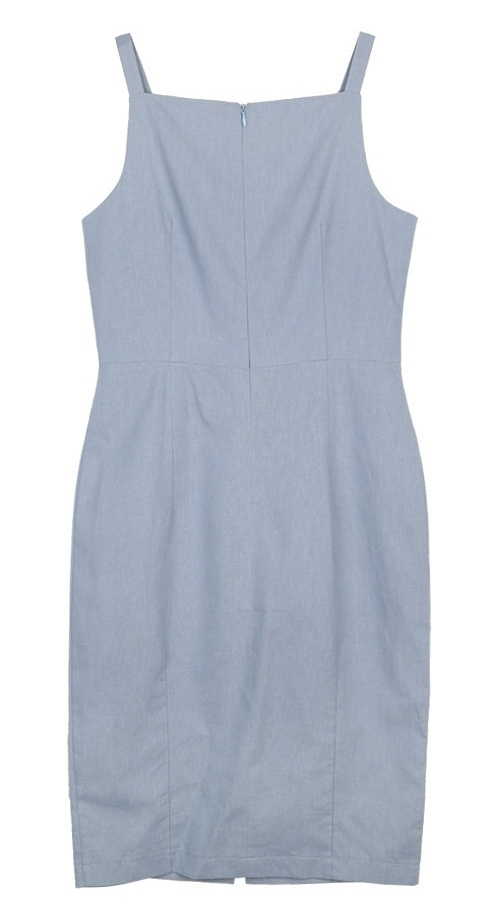 Sleeveless Vent Front Dress