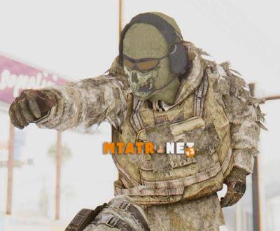COD MW2 Ghost Sniper Desert Camo