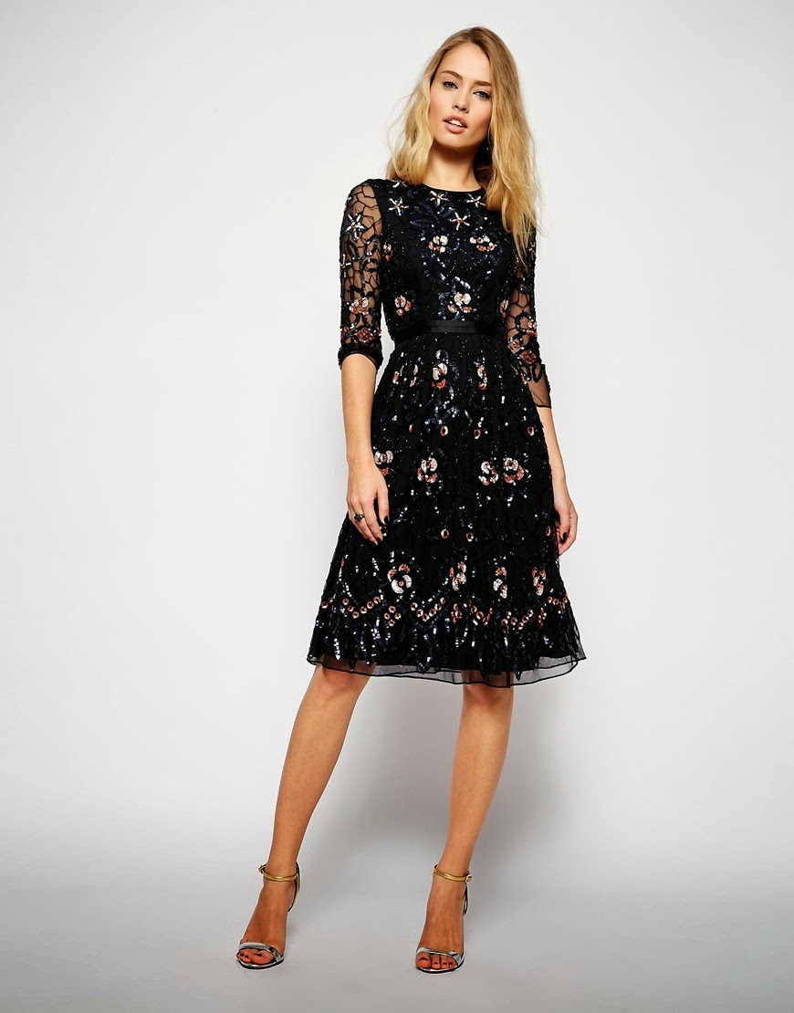Formal Tail Midi Dress With Sleeves Follow Mode Sty For Stylish Modest Clothing