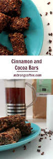 Cinnamon and cocoa oat bars. Easy to make and go well with coffee