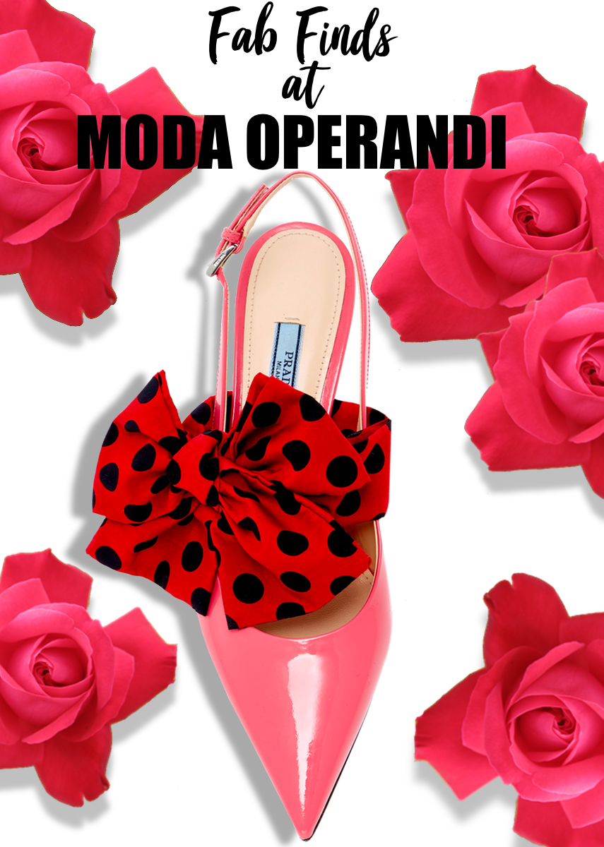 Prada M'O Exclusive- Bow Slingback