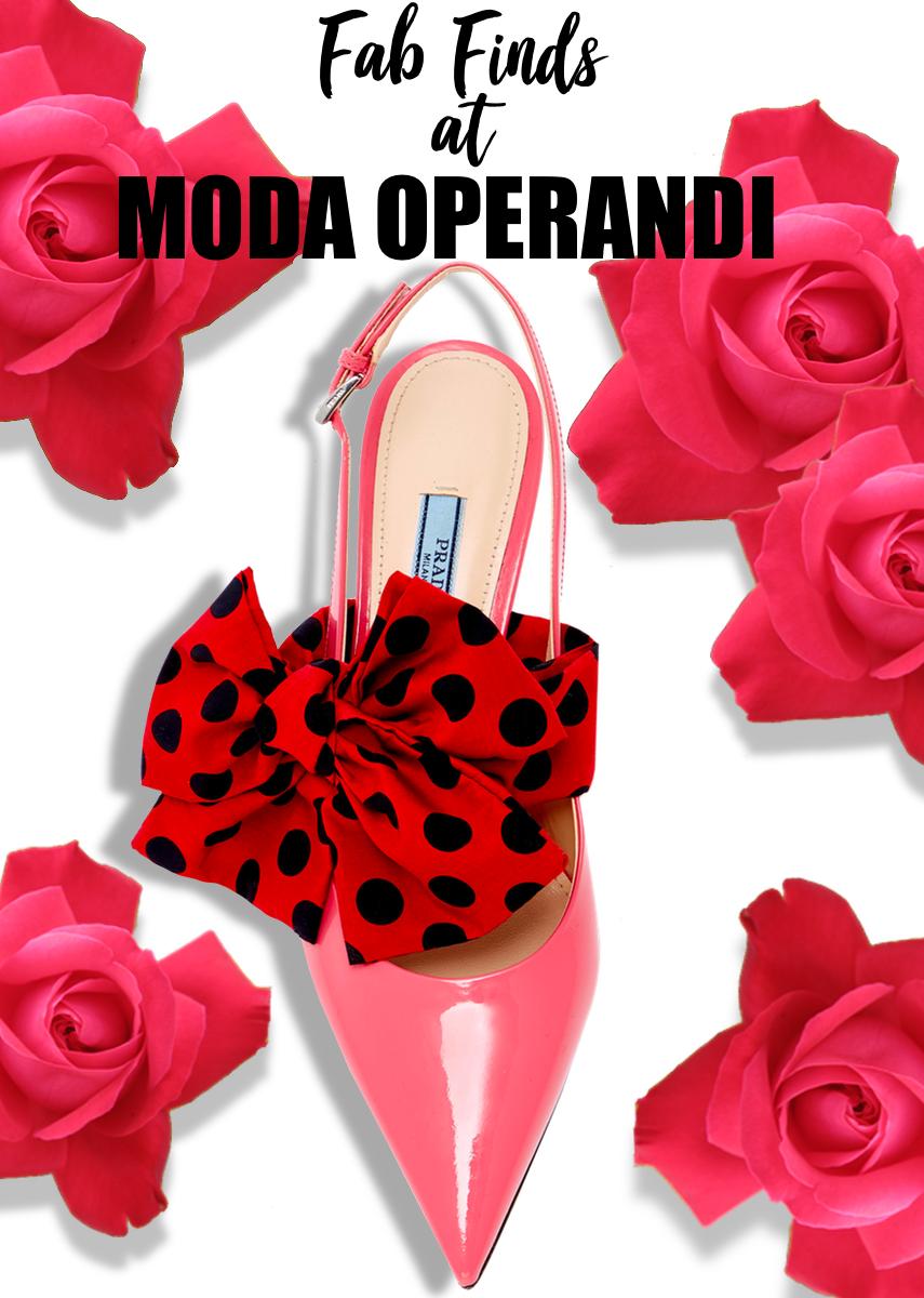 Prada M'O Exclusive- Bow Slingback