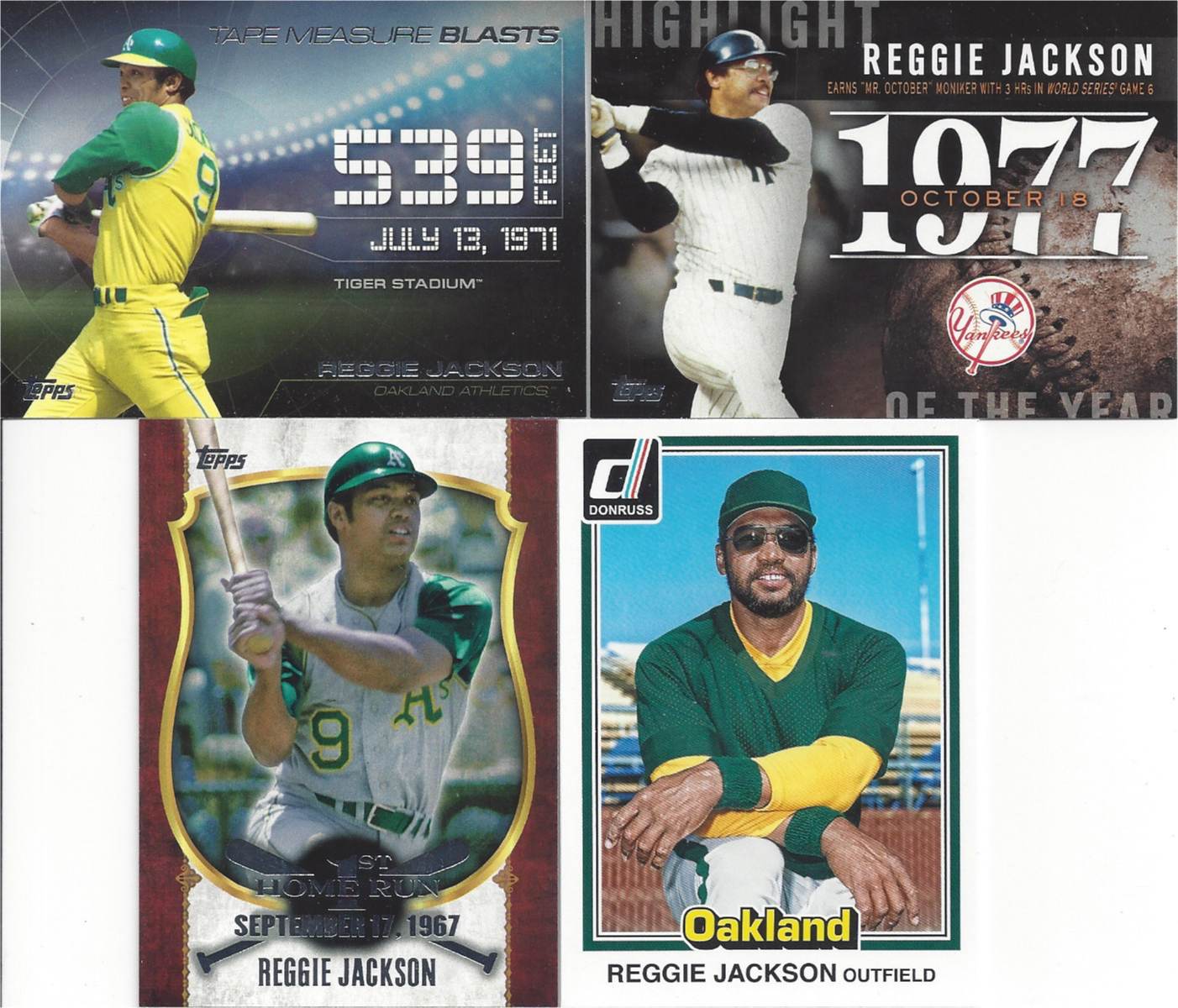 2f744f723b40 Here are a few more inserts and a short print base cards. My favorite cards  of Reggie show him in his #9 uniform during his first stint with the A's.  He is ...