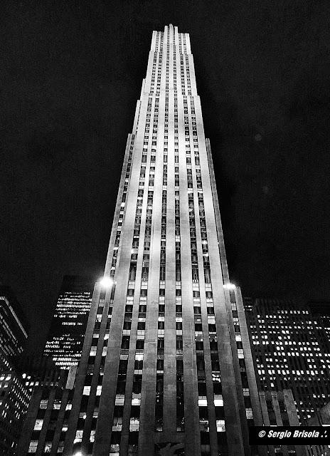 facade of the The Rock - Rockefeller Center - NYC