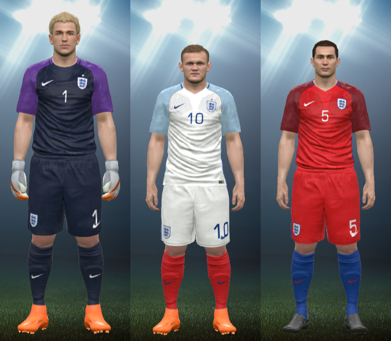 e5da622ec5cf6 Wepes Sport  Uniforme Seleção Inglesa 2016 - Pes 2016 (PC PS3)