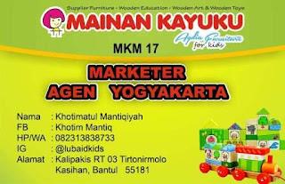 Marketer Mainan Kayuku Yogyakarta Khotim