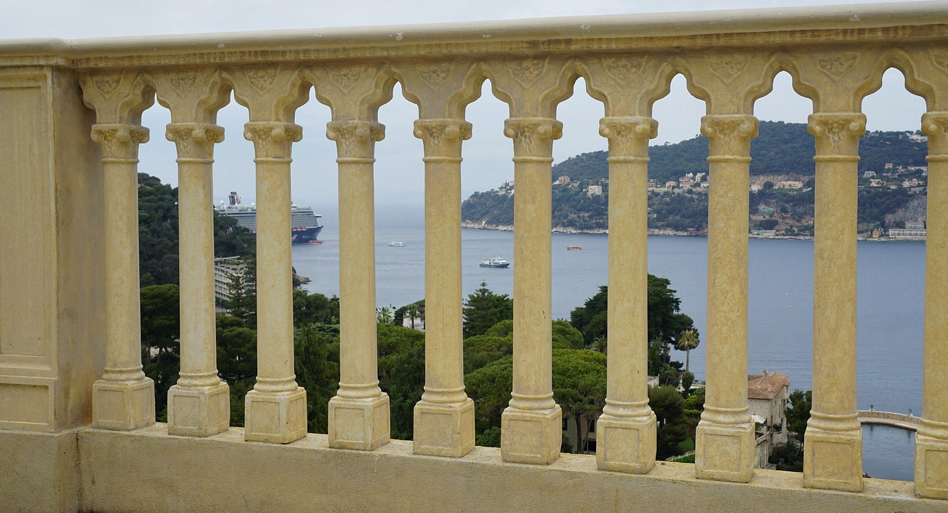 View from Villa Ephrussi de Rothschild Gardens