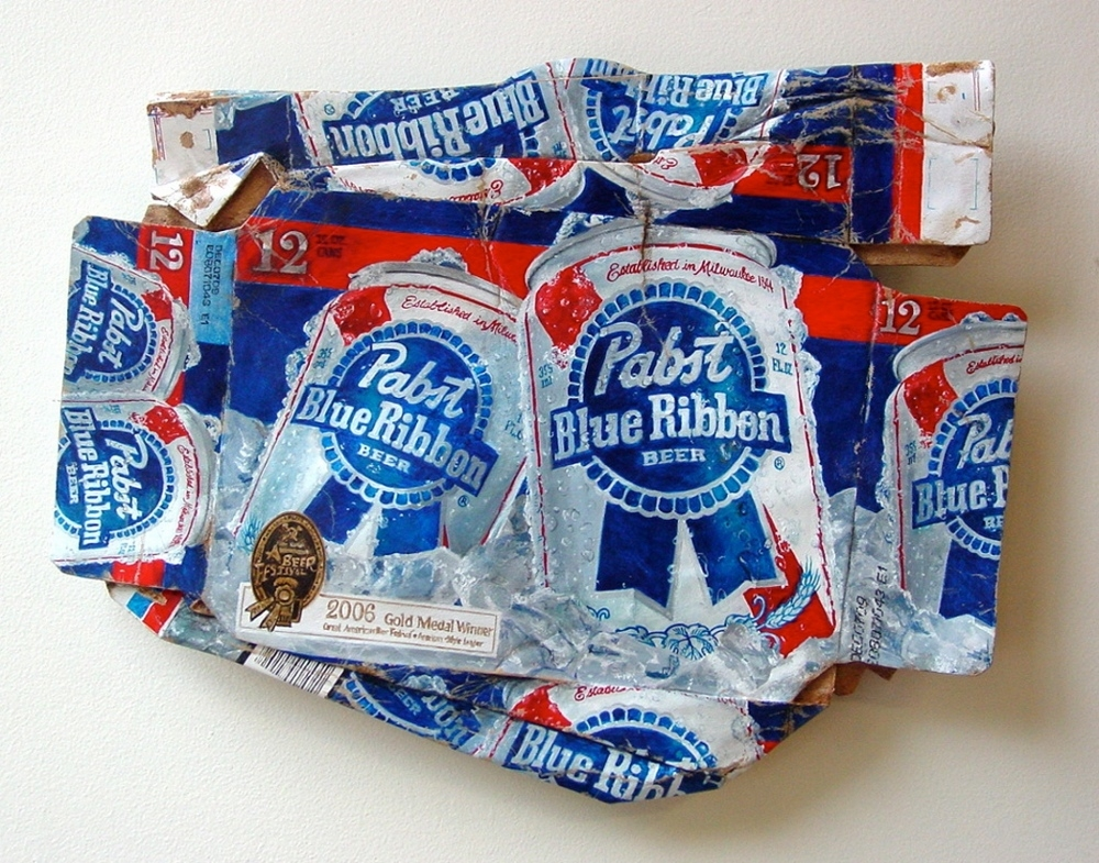 06-Case-of-Blue-Ribbon-Tom-Pfannerstill-Hyper-Realistic-Paintings-Sculptures-From-the-Street-www-designstack-co