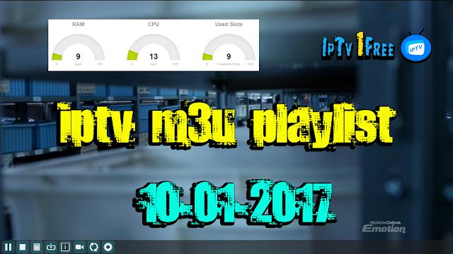 iptv m3u playlist 10-01-2017