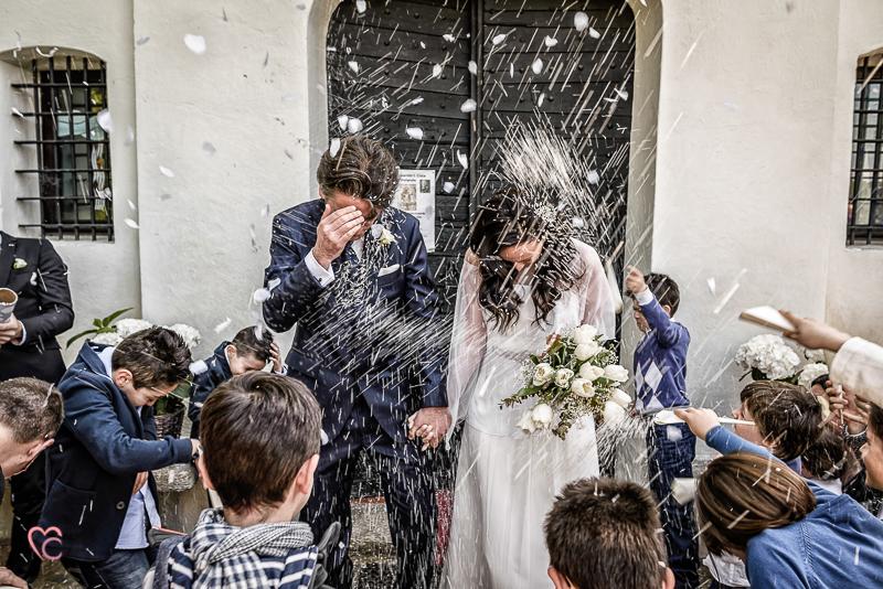 Matrimonio di Alessia e fabio, lancio del riso