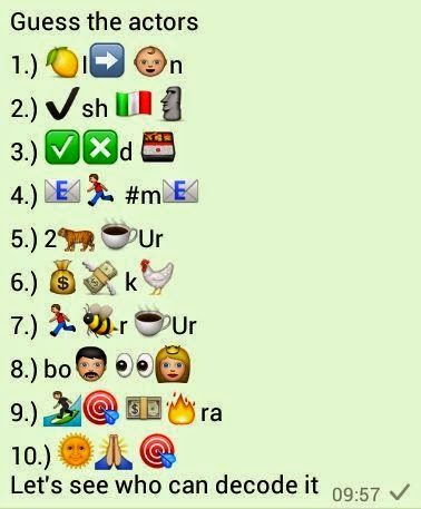 Guess the Actors whatsapp quiz