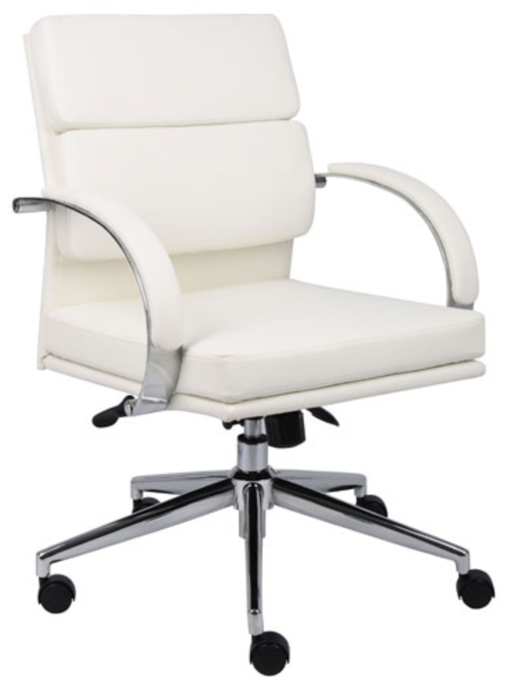 Boss B9406 Black or White Leather Chair